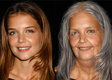 Katie Holmes will plotz when she looks like that. Aging in not fun.