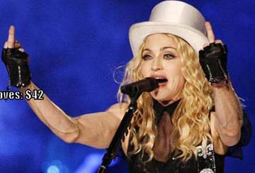 Madonna is going gentle nothing.
