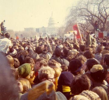 "The good old days. The Moratorium of '69. ""We were half a million strong."""