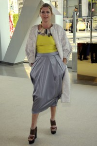 Victoria Bartlett's skirt is ill fitting, the necklace is a bit much. Whatever.