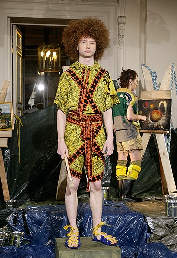 I want whatever they are on. I'm a blast at art parties that turn nto fashion presentations. Especially on drugs.