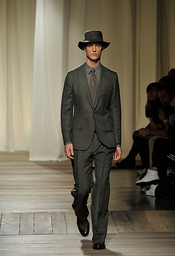 "Even Ermengildo Zegna couln't resist adding the ""quirky man-hat"" to his otherside tasteful collection. It's like a modified urban sombrero."