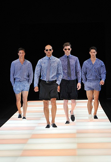 An otherwise butch collection, Armani sees that the Manzie is a growing concern, hence the Manzie grouping.