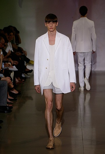 But Jil Sander wins the Mazine collection to date. It's designs for the Hermaphrodite Manzie.