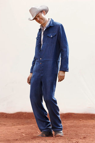 Now really, do you have to shlepp all the way to Paris to buy this Adam Kimmel (who) denim jumpsuit circa Marlboro Man? Jean-Claude Penney has them by the jillions.