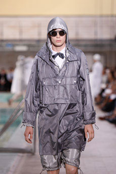 Meanwhile, this is the only image of the Moncler by Thom Browne collection I can find. I saw the video...and there is tons of Manzie on that runway, but somehow, there is no other coverage that this one image on High Snobiety. But, you can run your imagnations wild...Thom Browne, rain slickers in plaids, knickers galore and petal pushers for days.
