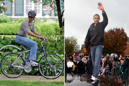Obama has to refect the AMerican peple and not dress well. Him a pair of cool G-STAR jeans would make way too much hay.