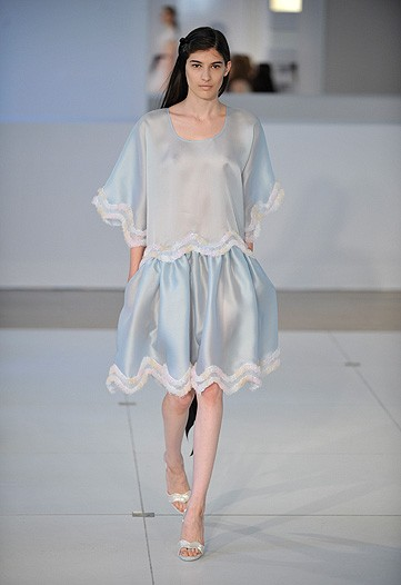 Alexis Mabille, would you like consider skipping couture and swing right into pajamas. What is this?