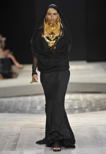 Nah. I think it's fierce to have a couture Burka. You'll be 2 snaps up in the desert.