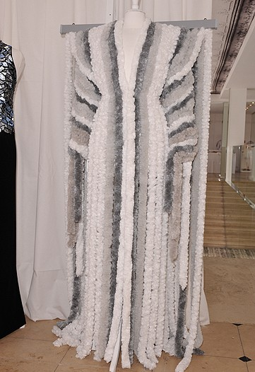 And since you wanted it in a grey story, here it is. What's next, a silly string gown to match? Actually...