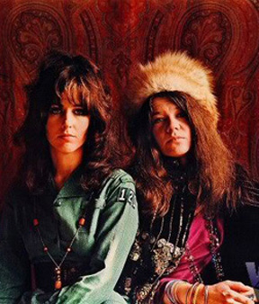 Janis Joplin and Grace were tied for coolest chicks alive, along with Marianne Faithfull in 1969.