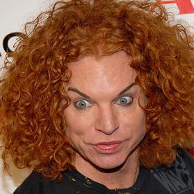 Red haired guys have a hard time and Carrot Top surely does not help matters. Yikes.