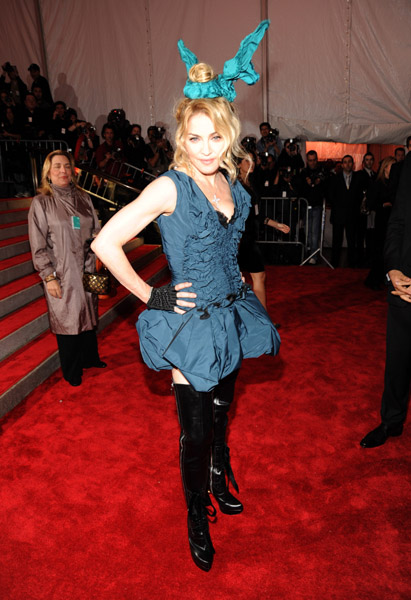 Madonna's outfit at the Costume Institute Gala was FOTZ.