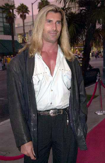 Did you ever uderstand the whole Fabio thing? Look at his outfit? Please, somebody, explain this. When he did that margarine commercial all bets were off. We used to go to the same dog park in LA. Hilare.