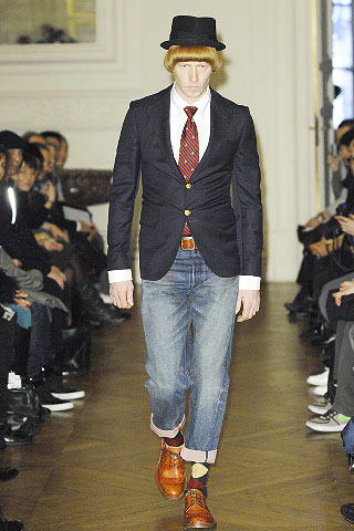 """Don't think you won't have a good giggle trying on the complete Junya Wantanabe look, complete with ill fitting quirky man hat and jacket. You nkow that horrendous sales person is going to say, """"It's you!"""""""