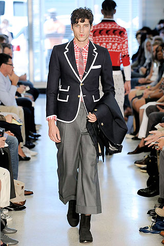 Okideer. The pants length is horrendous for any gender. Those gauchoes, as well as the man culotte from Richard Chai is a waste of time and breath. when the couture shows throw out outrageous outfits, it helps to seel fragrance. This crap helps no one...most of all Thom Browne.