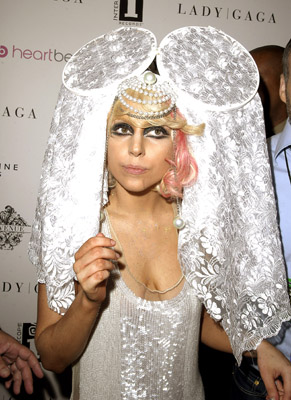 Here Gaga pays homage to Madonna from the Like A Virgin era. The Mini Mouse version.