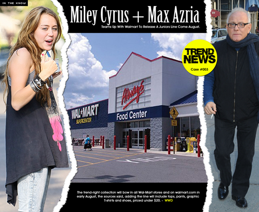 "Yup...the Azria-Cyrus marriage might be ""Trend News"" but its a trend called the end of designer world is nigh."
