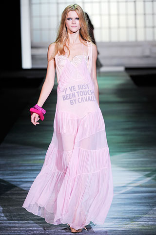 Look at what it says on the Just Cavalli dress. Are you breching? I sure am.