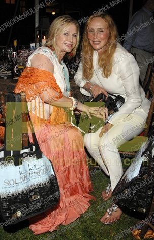 It's nice to see Kathy HIlton (left) cracked off the obscurity ice, shown here with her Juvederm buddy. Cheeky.