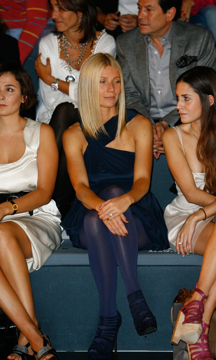 "Gwenyth Paltrow seems to really be enjoying Madrid Fashion Week. ""Get me out of here."""