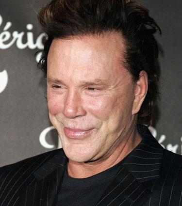 I know, I know...Mickey Rourke is beyond the cheeks...but can you just...