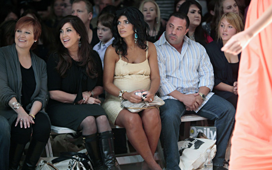 All I can say i that if I worked on the fashion show that had the Real Housewives of New Jersey (complete with a real husband) sitting in the front row of a show that I wored on, I would quit my day job and write full-time. Which is frankly the goal, just vis-vis The Housewives.