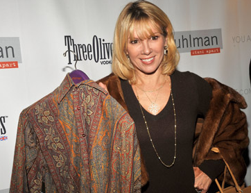 Ramona poses here with a friggen shirt. Hey, what isn't a photo op these days?