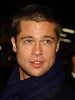 Once again, Brad Pitt shows us how a buzz cut is as good as it gets.