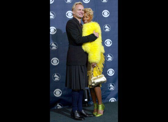 Sting almost pulls the look off. Not swacked on the navy knee-highs. And wondering if this skirt is a tad to voluminous.