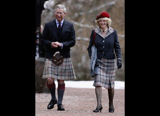 Aww, cute. Matching skirts. But agian...doesn't seem unnatural. Maybe we should all move to Scotland and call it a day.