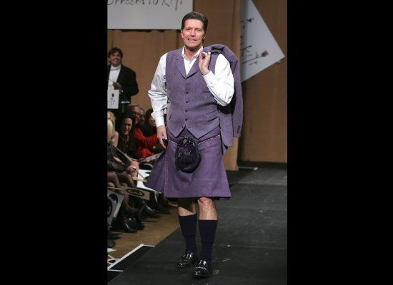 Stone Phillips in head to toe lilac...not tragic.