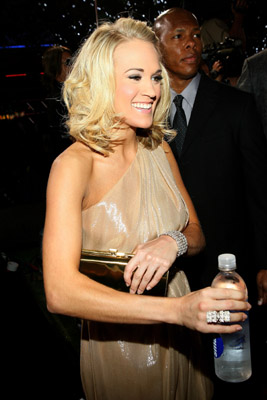 I am sure Carrie Underwood was partched, grabbed a water and ran.