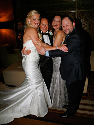 Not that Fran Drescher and Jason Alexander are nobodies, but the Jewish wedding of Geoffrey Edelstein and Brynne Gordon that they were paid to attend in Melboourne (again, of all places) are.