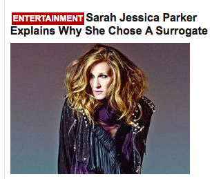 That Sarah Jessica Parker gets asked such a personal question and even responds. Have we crossed every boundary on earth? Don't answer that. I'd like to see Sarah then ask the interviewer, and you use Masengil or Vaggesil. Enough with the probing into each other orafices already.