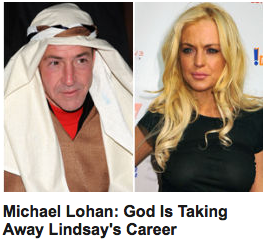 Would somebody please shit Michael Lohan's pie hole. What a retarded prick. Leave your daughter alone. Lindsay Lohan is doing just fine.
