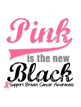 I am a huge suporter of Breast Cancer Initiatives, but trust me, pink is not the new blakc. You can Think Pink, but that's as far as it goes.