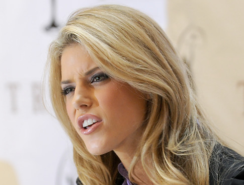 Carrie Prejean. Get used to this face because she will not go away. She's like genital herpes.