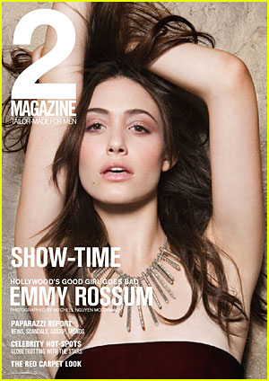 Yes, Emmy Rossum is pretty but sh'e neveer do the aforemtioned photo spreads. That said, what has she done besides Phant of the Opra, which bombed, a single whihc I never heard and prance around a lot of red carpet events? Oh, and date a me-yes-kait (Yiddish for gross babboon).