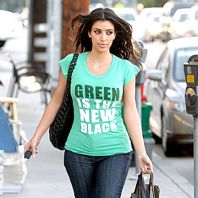 And just because Kim Kardashian says so, Green ain't the new black. Green is money and the term is somewhat overused. If everyone who cliams they have gone green have, well, we wouldn't be in this mess. Green is the New Politically Correct Word...period.