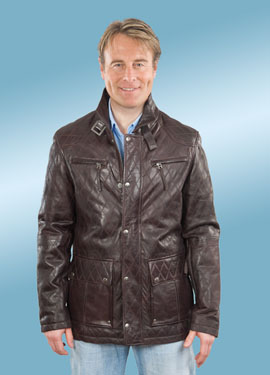 Do not even try on this brown, quilted, car-coat nonsense.