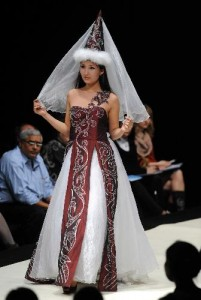 No, this is not from a regional theater Romeo and Juliet costume...it's World Fashion Week.