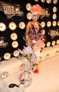 Nikki Minaj doing a downmarket version of Gaga, with no real Gaga in the room. This was ridiculous.