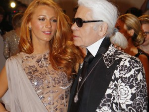 Karl and Blake Lively at the Costune Institute Gala.