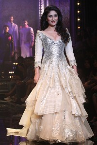 This dress was featured on the lakme Fashion Week runway, but I can't help thinking it's better served on the set of Phantom of the Opera.