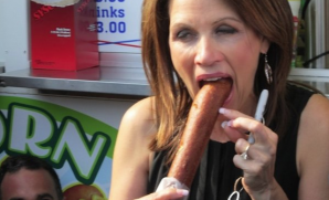 Michele Bachmann practicing.