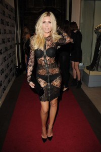 This chick attended the GQ Man of the Year event. What I like is how the zipper line continues on the top of her head.