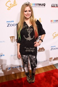 If this is what Avril Lavigne wears to the launch of her new clothing line, somebody dress me in Kardashian Kollection.....fast.