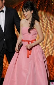 Zooey Deschanel was not wearing Chanel, for sure. She should have.