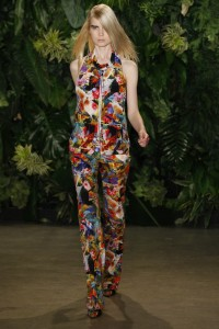 Joseph Altuzarra had to throw in this ode to Macy's Flower Show.